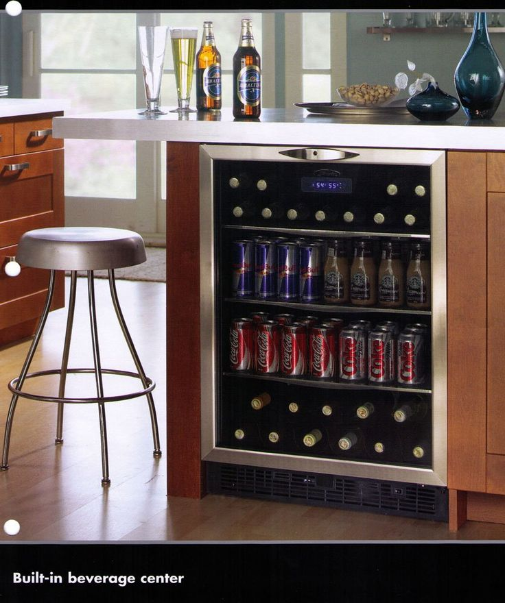 Kitchen Island Drinks Fridge I Like This Idea Since So
