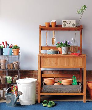 Potter's DreamIdeas, Potter Benches, Awesome Pots, Gardens Can, Garage Pots Organic, Potting Benches, Gardens Dreams, Pots Benches, Gardens Benches