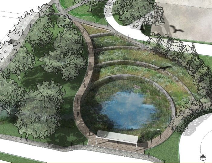 49 best images about stormwater management ideas on for Design of maturation pond