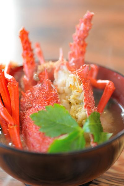 Iseebi (Japanese Spiny Lobster) Miso Soup|伊勢海老の味噌汁