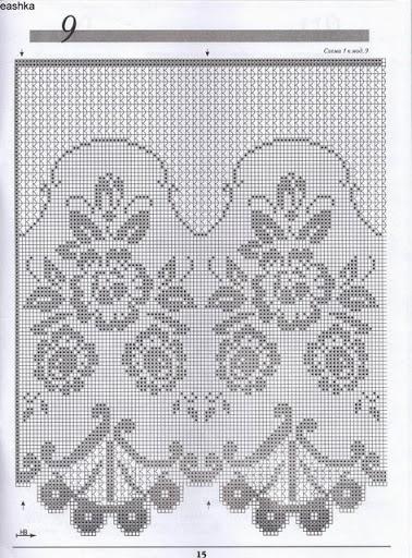 Gardine Filet häkeln ...  crochet - cortinas - curtains                                                                                                                                                                                 Mehr