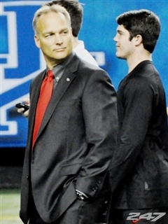 Mark Richt leads third-ranked Georgia to its fifth SEC Championship Game today against No. 2 Alabama. If the Bulldogs win, they will play for the BCS National Championship against Notre Dame. Ironically, the last time Georgia won the National Championship the Bulldogs played the Fighting Irish. Kickoff is at 4 p.m. today at the Georgia Dome with television from CBS.