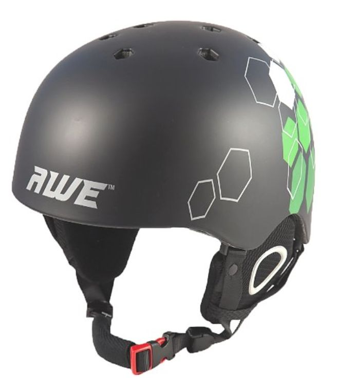 Awe Duel Ski/Snowboard Helmet £24.99 This fantastic snow, bike and skate helmet looks cool 12 months of the year, with an advanced dynamic design, quality inner lining and additional BMX / skate inner pads.