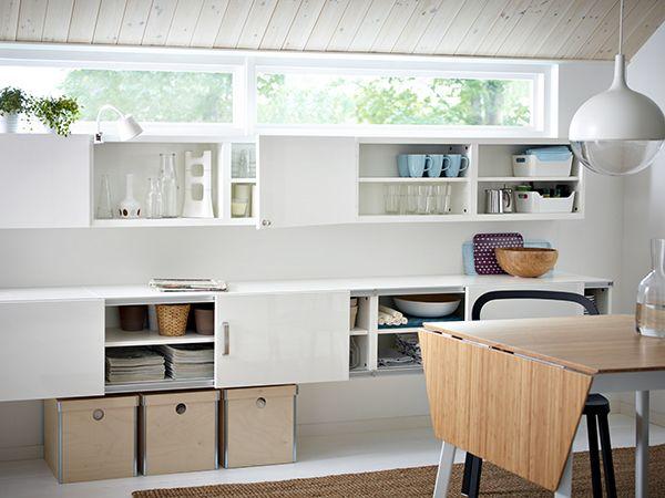 IKEA   IKEA PS Klapptisch, Tischplatte Aus Sehr Robustem  Bambusmaterial.Tisch Mit Schmalem, Klarem Zuschnitt Für Leichtes Möblieren  Auch Bei Wenig Platz.