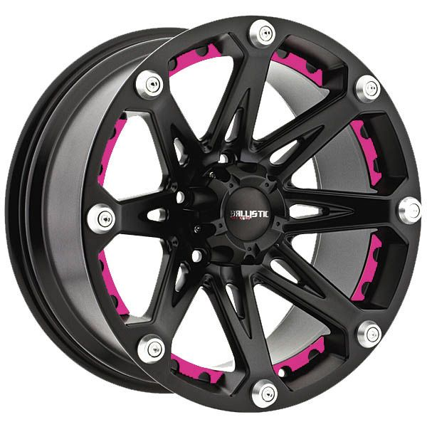 "BB Wheels - Pink Inserts for 20"" Ballistic Jester Rims *Custom Order Only"