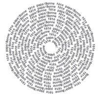 Générateur de textes en forme de...   Voici un générateur qui peut éditer le texte de votre choix en spirale, en cœur, en vagues, ...  http://www.festisite.com/text-layout/  Très utile...