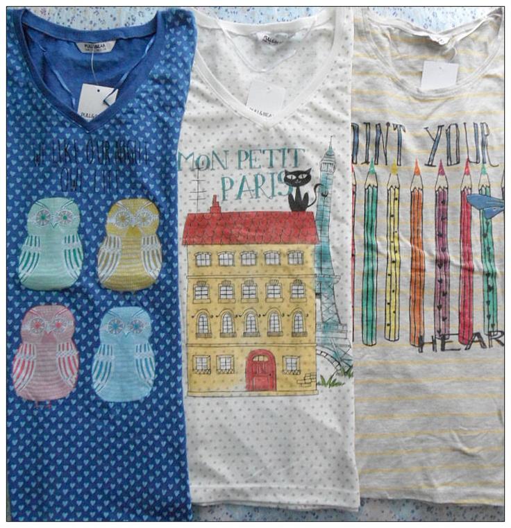 Trittico (XD) di Pull and Bear, t-shirts a maniche corte
