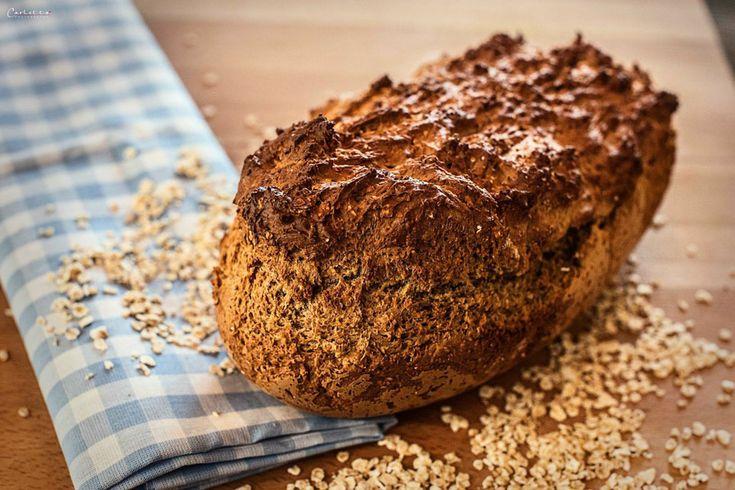 Rezept für Joghurt Vollkorn Brot. Gesundes Brotrezept für hausgemachtes Brot. Vollkornbrot, Brot selbst backen.