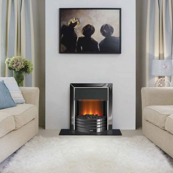 Dimplex Freeport Electric Fire with the OptiFlame Effect and a 2KW heater.   #dimplex #electric #electricfire #inset #wall #LED #optiflame #coals #chrome #kernowfires #wadebridge #redruth #cornwall