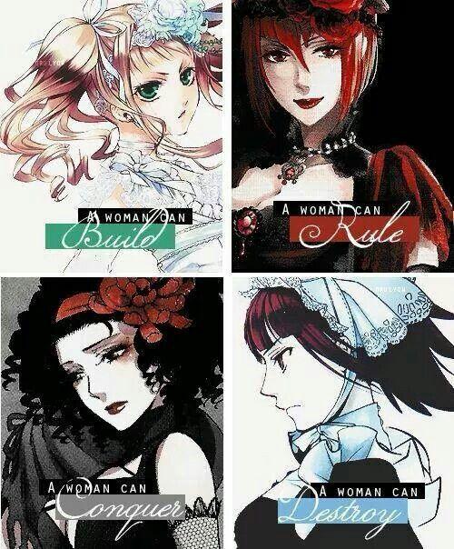 Lizzy, Angelina, Beast, Mey-Rin