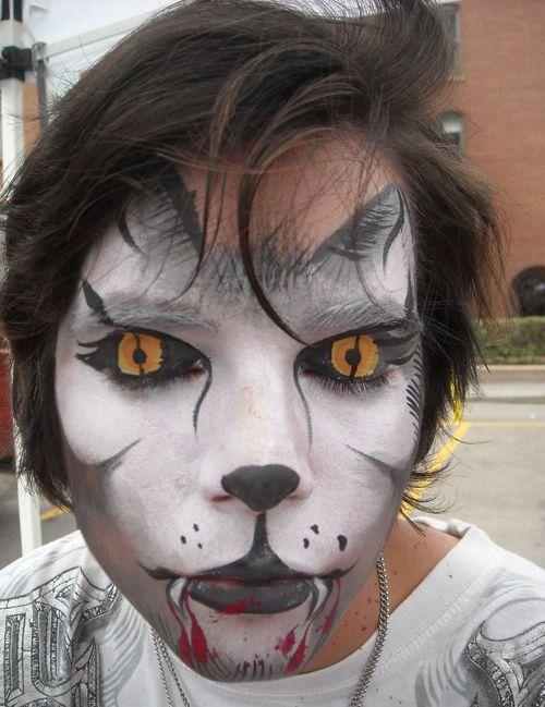 16 besten facepaint Bilder auf Pinterest | Werwolf-Kostüm, Schminke ...