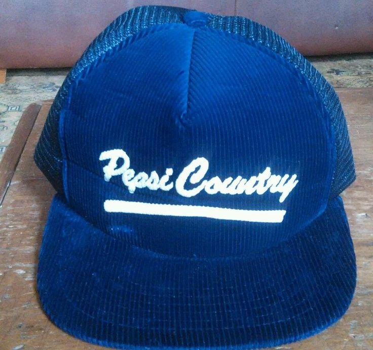 Pepsi Country Corduroy Snapback Trucker Hat Baseball Cap