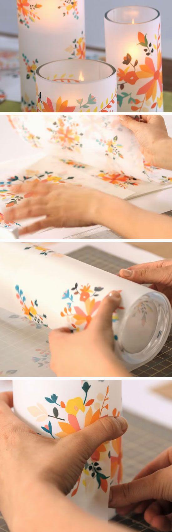 Floral Votive Centerpiece   DIY Cinco de Mayo Party Ideas Decorations   Easy Fiesta Party Ideas for Adults Mexican