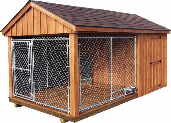 Dog Kennel -It would be kinda complicated to build, and I don't own a dog. I bet dog owners who have lots of time can waste some of that time building a wonderful dog kennel!