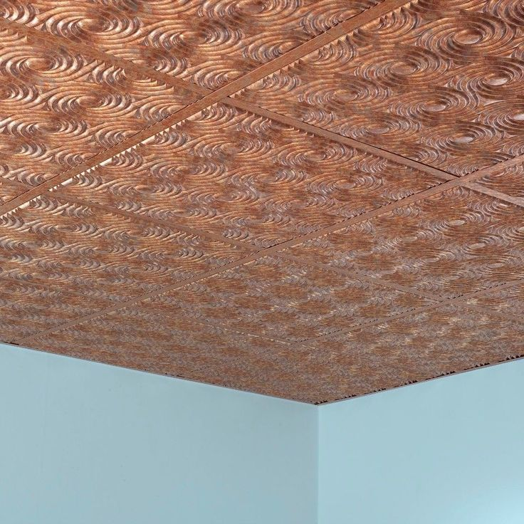 Fasade Cyclone Cracked Copper 2' x 2' Lay-in Ceiling Tile