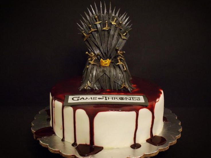 Game of Thrones Cake, fondant Iron Throne