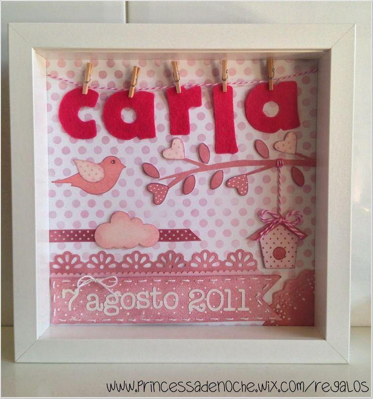 scrapbooking idea for a frame ♥ for baptism