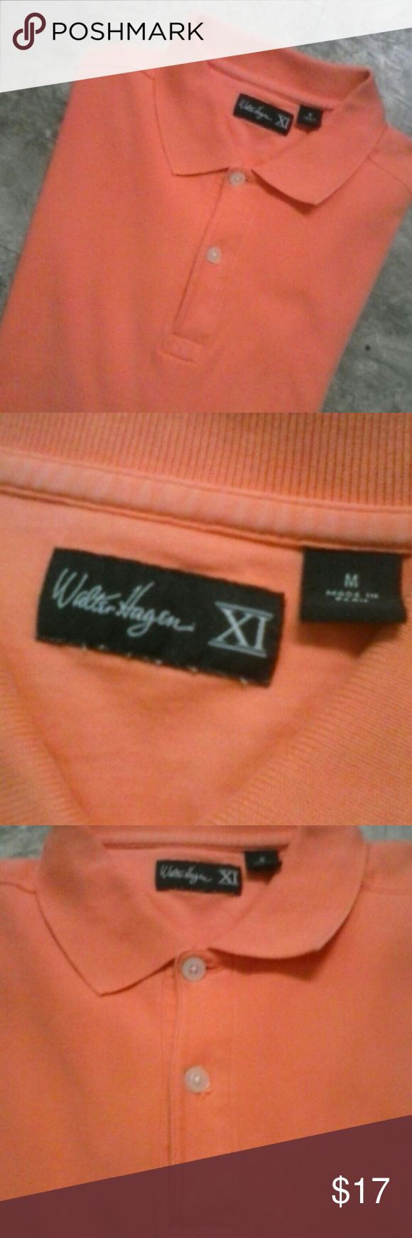 men's Walter Hagen orange polo LIKE NEW Men's size medium Walter Hagen XI Orange color polo shirt. 100% cotton. Never worn Walter hagen Shirts Polos