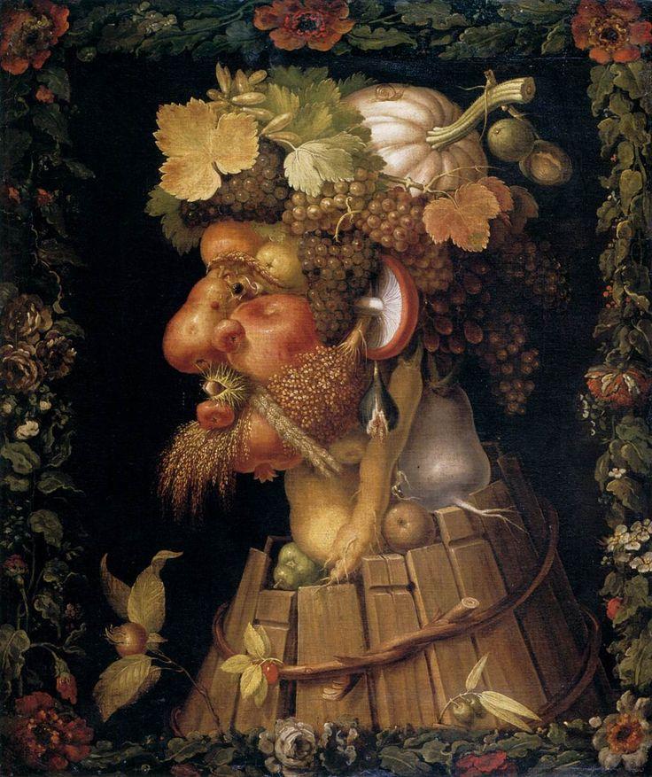 Осень. Autumn, 1573. Джузеппе Арчимбольдо. Giuseppe Arcimboldo.