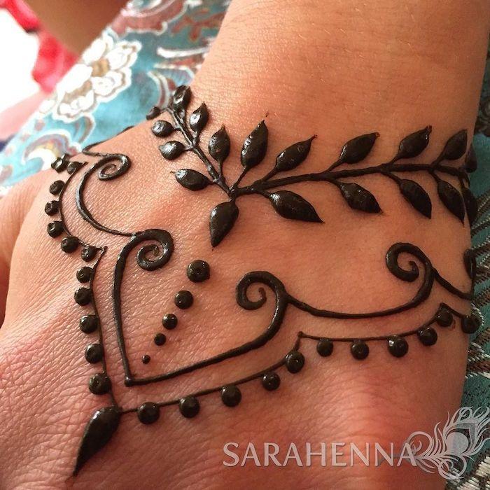 Tatouage à la main au henné – Ancêtres et lignes temporaires #henna #tattoo #temporar   – Tattoo Ideen