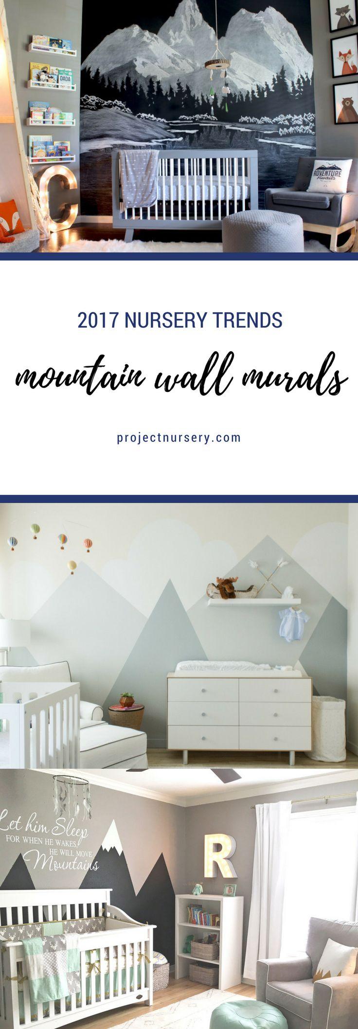 2017 Nursery Trends: Mountain Wall Murals