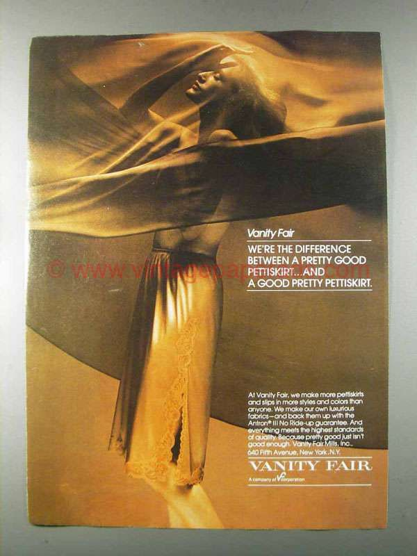 1980 Vanity Fair Pettiskirt Ad - We're the Difference