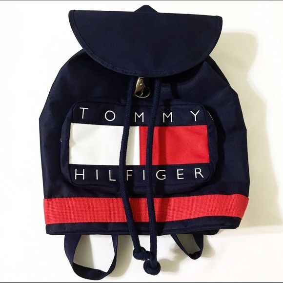 Vintage Tommy Hilfiger backpack Vintage Tommy Hilfiger unisex backpack Never used. New without tags! Color: navy, red & white Tommy Hilfiger Bags Backpacks