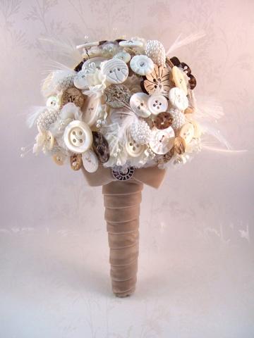 Rustic button bouquet by Debbie Carlisle www.dcbouquets.co.uk