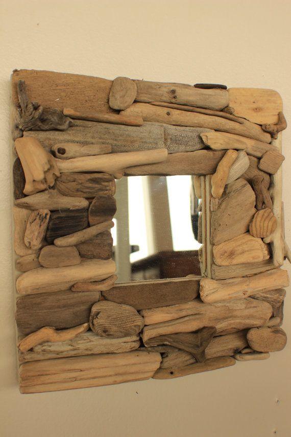Driftwood Mirror 10 x 10 / Driftwood Decor / by StrollinTheBeach, $42.00