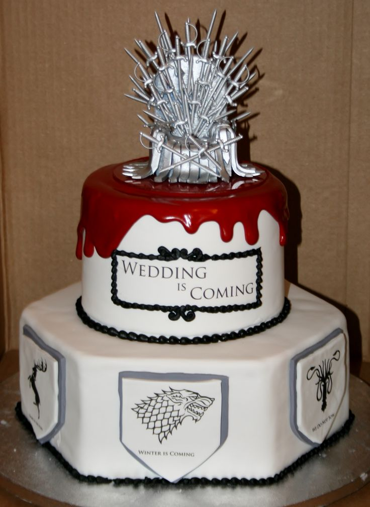 """Wedding is Coming"" Unique Game of Thrones wedding cake!"