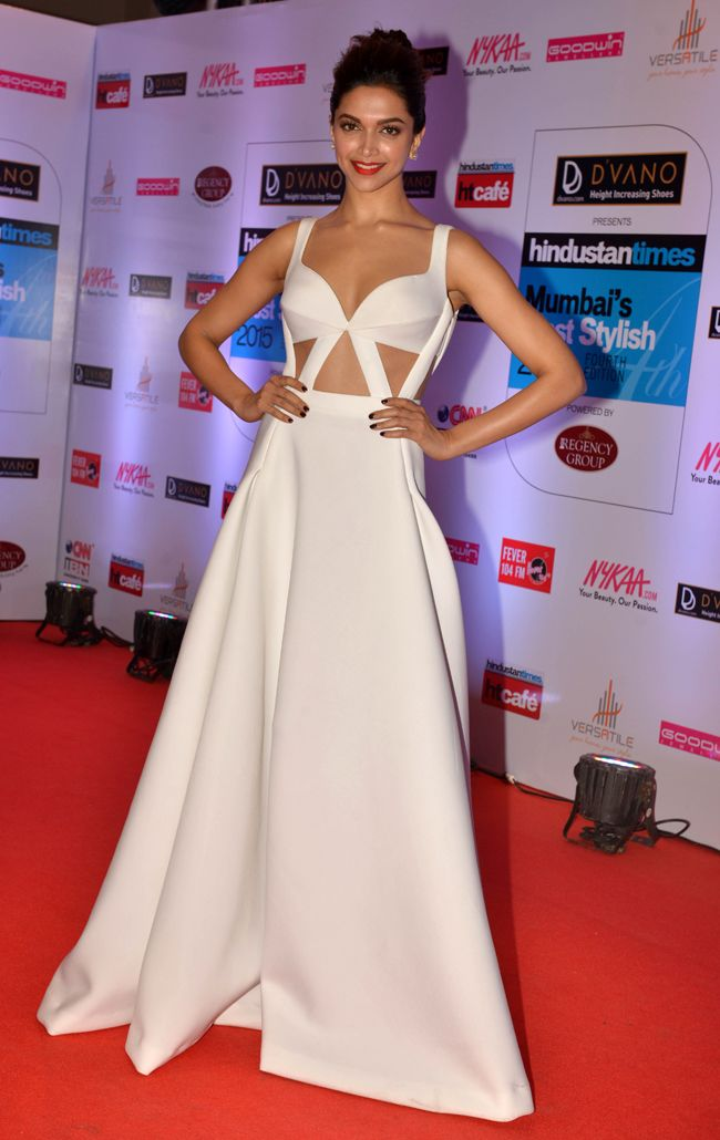 Deepika Padukone at the HT Style Awards 2015.