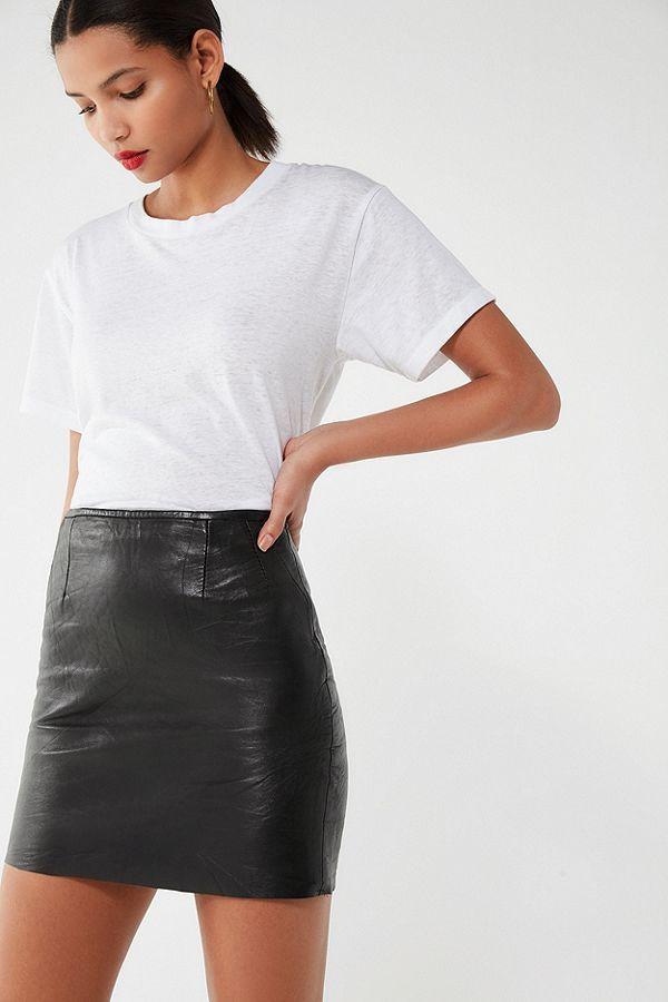 3805b4e84b Vintage High-Rise Leather Mini Skirt in 2019 | Bottoms-Skirts ...