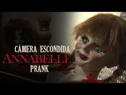 Boneca maligna vira pegadinha para promover terror 'Annabelle'