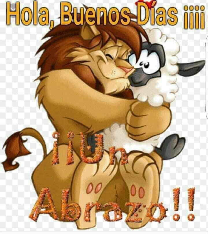 Frases Para Dar Los Buenos Dias Para Whatsapp Lion And Lamb Cartoon Hug