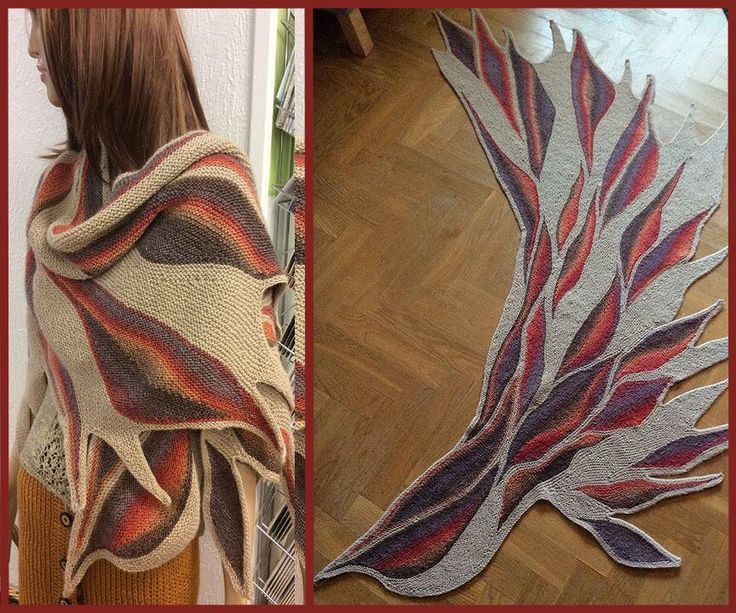 This is a shawl I made called Phoenix wing, pattern found on ravelry.  Swing knitting.