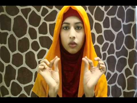 How to pin a square Hijab video tutorial.