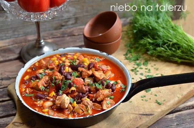 niebo na talerzu: Kurczak po meksykańsku. Szybki kurczak w pomidorowym sosie