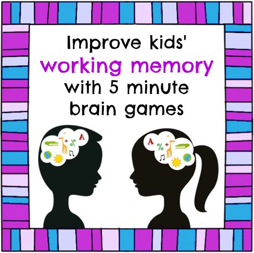 How working memory games can improve kids' executive function in 5 minutes a day. Perfect for those students who have trouble with multi-step directions, forget what you just told them, can't copy info down, etc.!