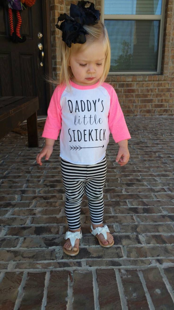 Daddy's Little Sidekick - Daddys Girl - Daddys Little Girl - Baby Girl Shirt - Girls Shirt - Father's Day Girl - Dads Gift - Girls Outfit by MadieAndQuinn on Etsy https://www.etsy.com/listing/254717528/daddys-little-sidekick-daddys-girl