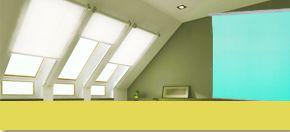 Dachfenster-Rollos bieten hervorragenden Sichtschutz, Sonnenschutz und Verdunkelung. Über den Online-Shop erhalten Sie Rollo-Systeme, die passgenau für Ihr Velux®-Fenster angefertigt werden - ab 24,80€!