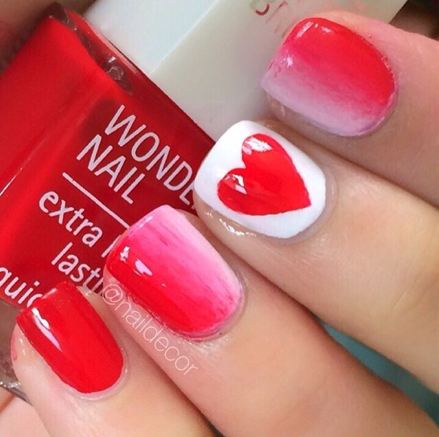 Canada day nails!!