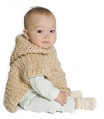 Wee Hooded Poncho by Lion Brand Yarn