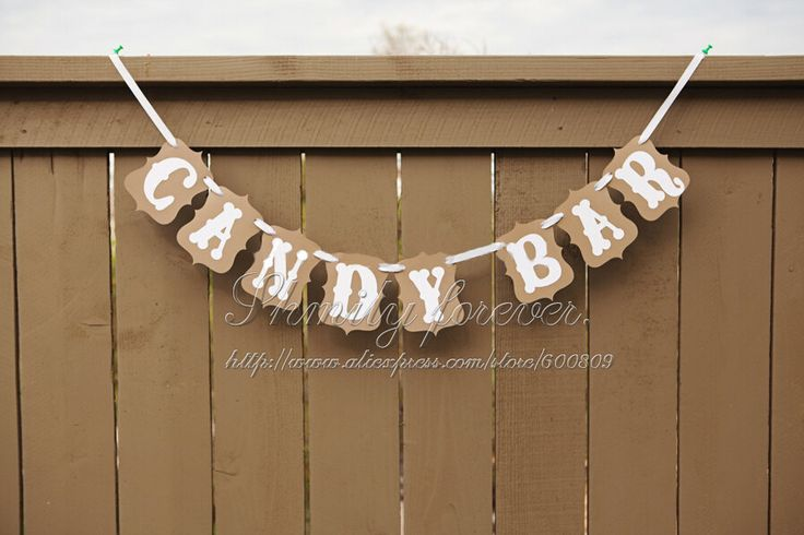 Livraison gratuite! Candy bar populaire papier mariage, bruant guirelande bannières. party supplies dans de sur Aliexpress.com