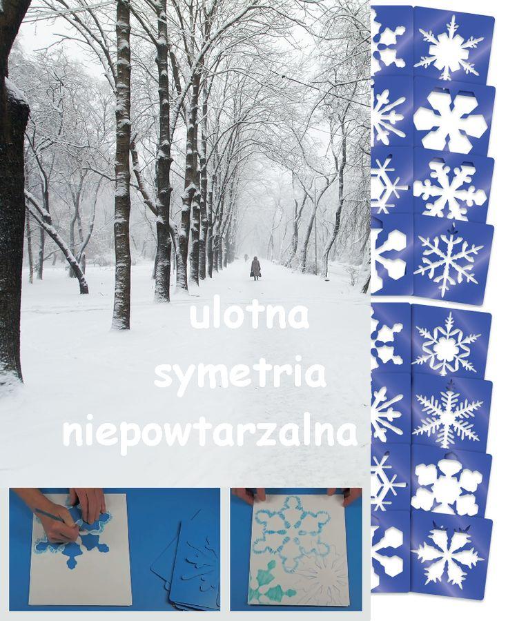 Śnieg może zaskoczyć drogowców, rozjaśnić cały pejzaż odbijając Słońce, zachwycić niepowtarzalnością swych kryształków, zwanych płatkami, które w locie stają się arcydziełami precyzji i symetrii.  A jakie pomysły na Szablony płatków śniegu masz Ty? http://sklep.educarium.pl/educarium.php?section=1&kategoria=22&subkategoria=7284&produkt=16238
