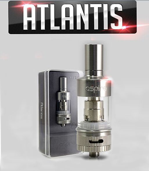 The Aspire Atlantis is a new sub ohm coil design with adjustable airflow. The Atlantis Aspire Tank has coils from 0.5 - 0.7 ohms so you can run high VG eliquid through your coil tank system. The Aspire Atlantis tank system runs like an RTA with a sub ohm coil and great airflow with an adjustable airflow ring at the bottom of the tank. The Aspire Atlantis sub ohm coil tank comes with a glass tank, drip tip, and a nice package.