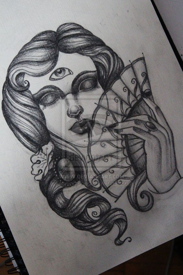 neo traditional tattoo by qwertyShap on DeviantArt