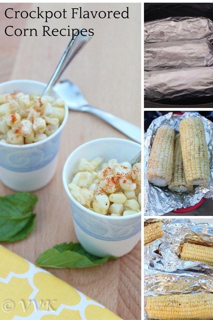 Slow cooker steamed corn. Butter corn, masala chaat corn and sweet chutney corn