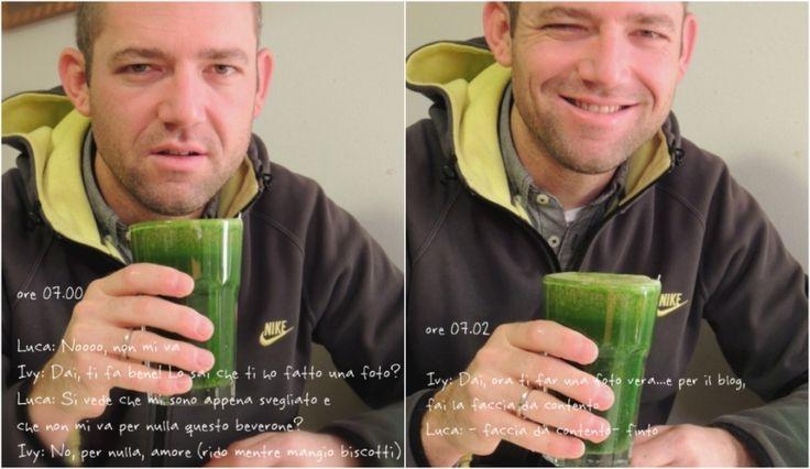 Frullato Verde Energetico di Cavolo Nero   Dolce Senza Zucchero