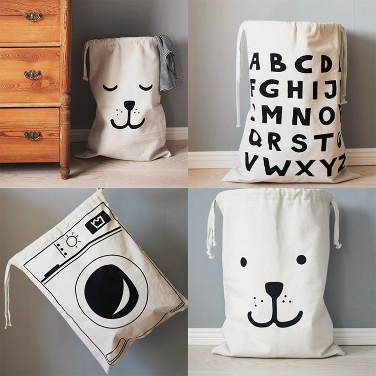 Large Cartoon Creative Babies Toys Storage Bag Cute Home Bedroom Canvas Bags Bear Pattern Laundry Bag