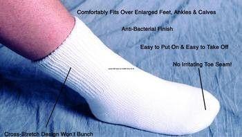>Oversize seamless sock med-lg. SeamLess??? OverSized Socks
